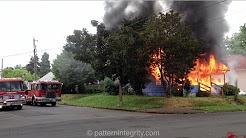 Pre Arrival Fully Involved House Fire North Portland Oswego House Fire St John's neighborhood PDX