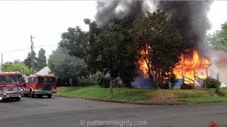 Pre Arrival Fully Involved House Fire North Portland Oswego House Fire St John's neighborhood PDX