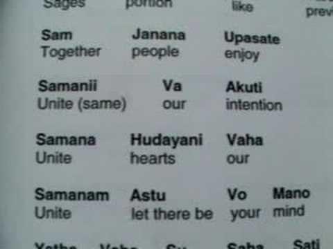 Samgacchadvam translation