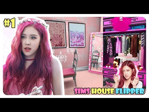 Sims House Flipper  | KAMAR ROSE BLACKPINK 🌹