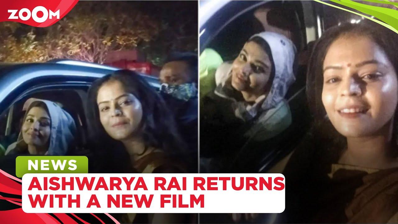 Aishwarya Rai Bachchan returns to sets as she shoots for Mani Ratnam's movie Ponniyin Selvan