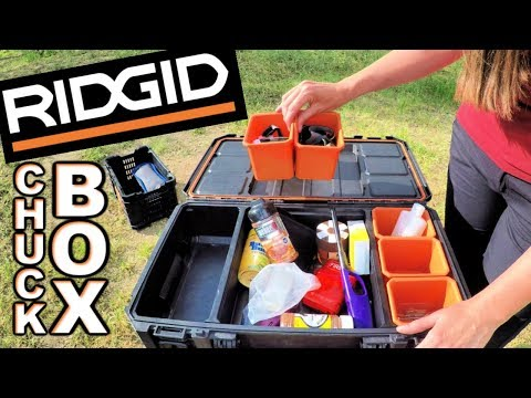 RIDGID Tool Boxes As Camping CHUCK BOXES - Gear Review #1