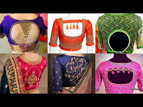 New Blouse Back Neck Designs Catalogue Latest Back Neck Blouse Designs 2020 Youtube