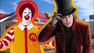 Willy Wonka vs Ronald McDonald | Fanmade Remake of ERB10