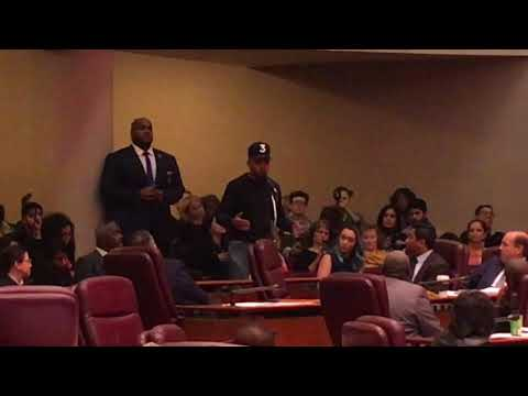 Chance the Rapper at City Council meeting