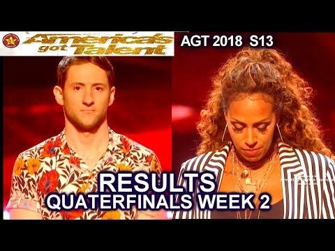 RESULTS QUARTERFINALS 2  Glennis Grace Samuel J Comroe  & a swear? America's Got Talent 2018 AGT