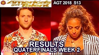 RESULTS QUARTERFINALS 2  Glennis Grace Samuel J Comroe  & a swear? America's Got Talent 2018 AGT