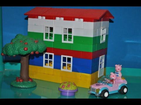 Обзор игрушек - Конструктор LEGO: Свинка ПЕППА и ДЖОРДЖ строят дом/Peppa Pig building a house