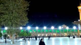 イラン・シーラーズ、夜のシャー・チェラーグ廟