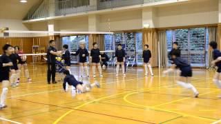 聖和女子学院中学校バレー部の練習風景