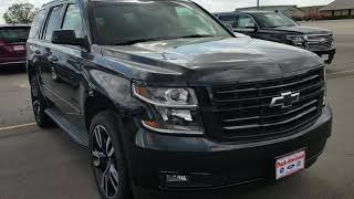 2018 Chevy Tahoe Premier black at Dale Howard Auto Center in Iowa Falls