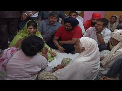 CM visits border, meet families affected by Pak firing in Jammu