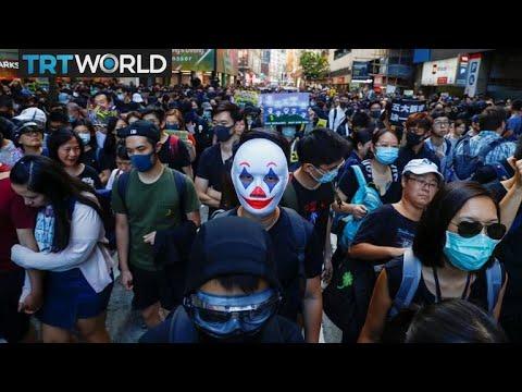 Anti-Beijing Protesters Occupy HK University Campus | Money Talks