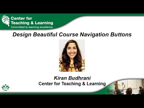 Design Beautiful Course Navigation Buttons for Canvas (3/16/2017)