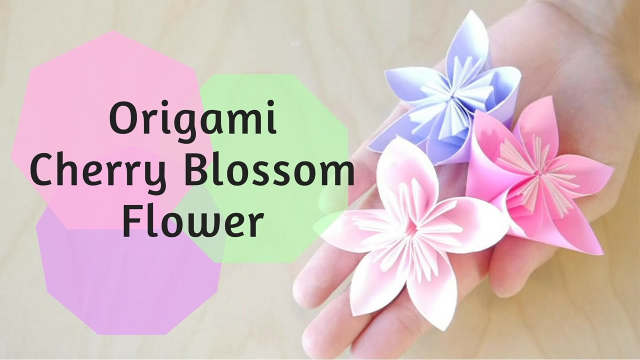 How to make origami cherry blossom flower youtube youtube premium mightylinksfo
