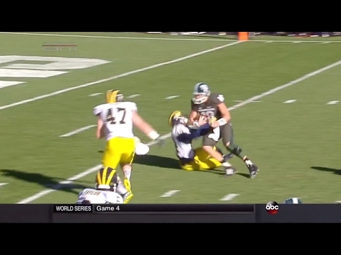 Connor Cook Trucks Defender Vs. Michigan 2014