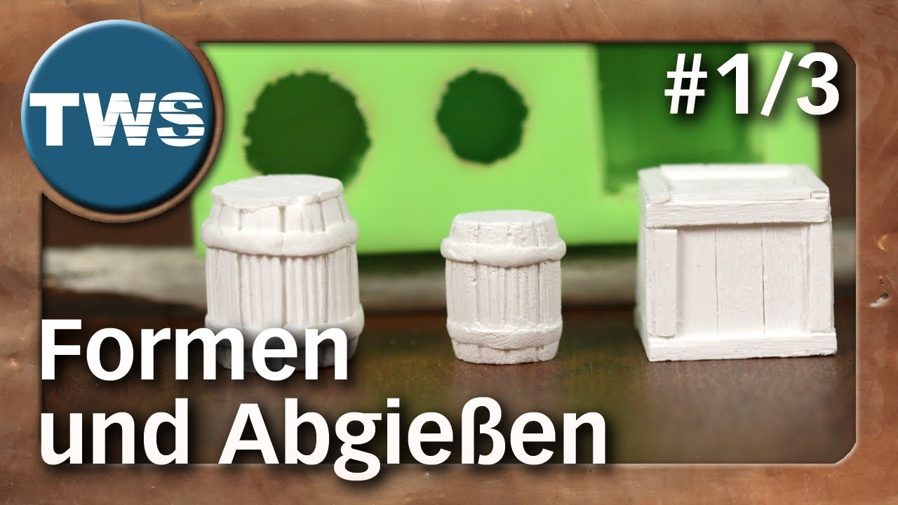 atelier formen aus silikon und abgie en 1 3 silicone molds tabletop zubeh r tws youtube. Black Bedroom Furniture Sets. Home Design Ideas