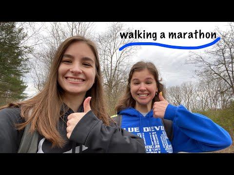 walking a marathon!