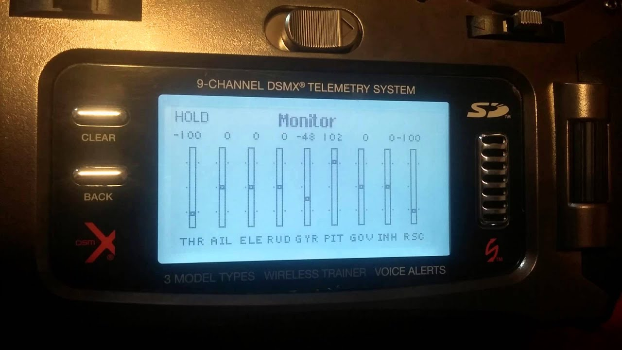 Spektrum dx9 - Spirit FBL : Rescue timeout setting