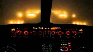 Посадка самолета в автоматическом режиме  Кабина пилотов