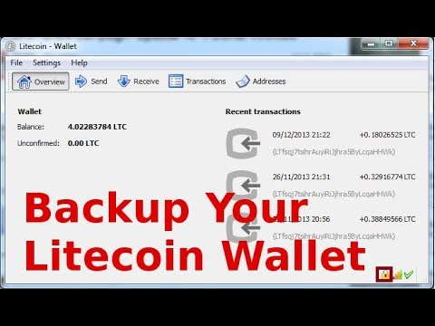 Backup Your Bitcoin Wallet How Do I Store Litecoin – Carlos V Spencer