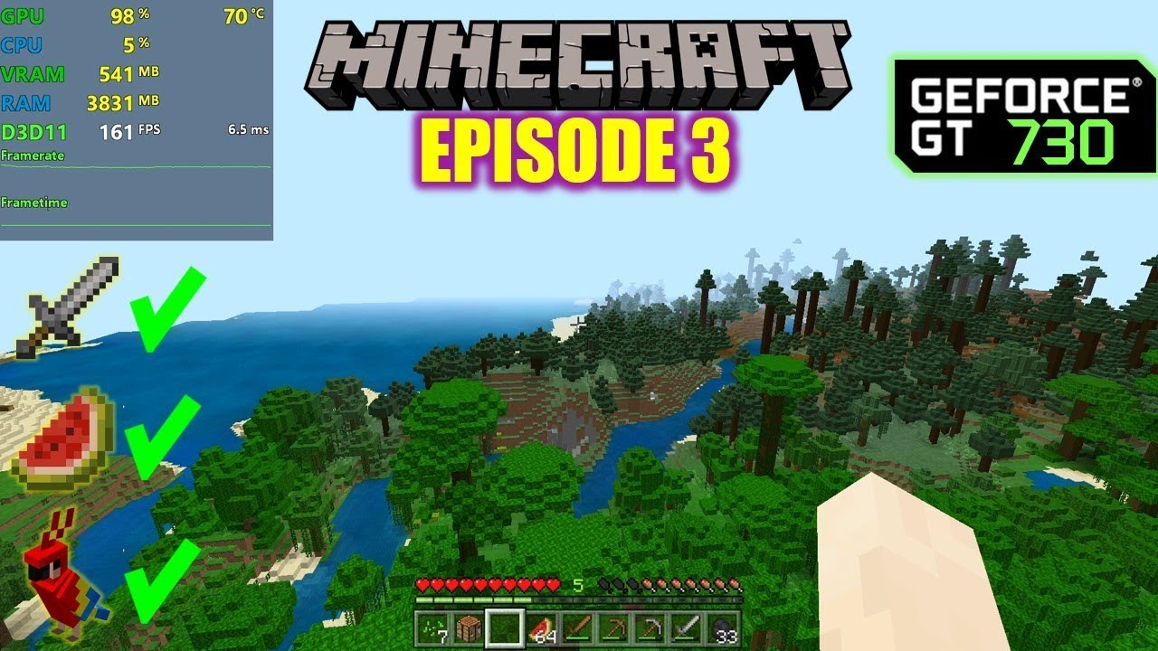 Minecraft | Ep3 - Rebuilding! - GT 730