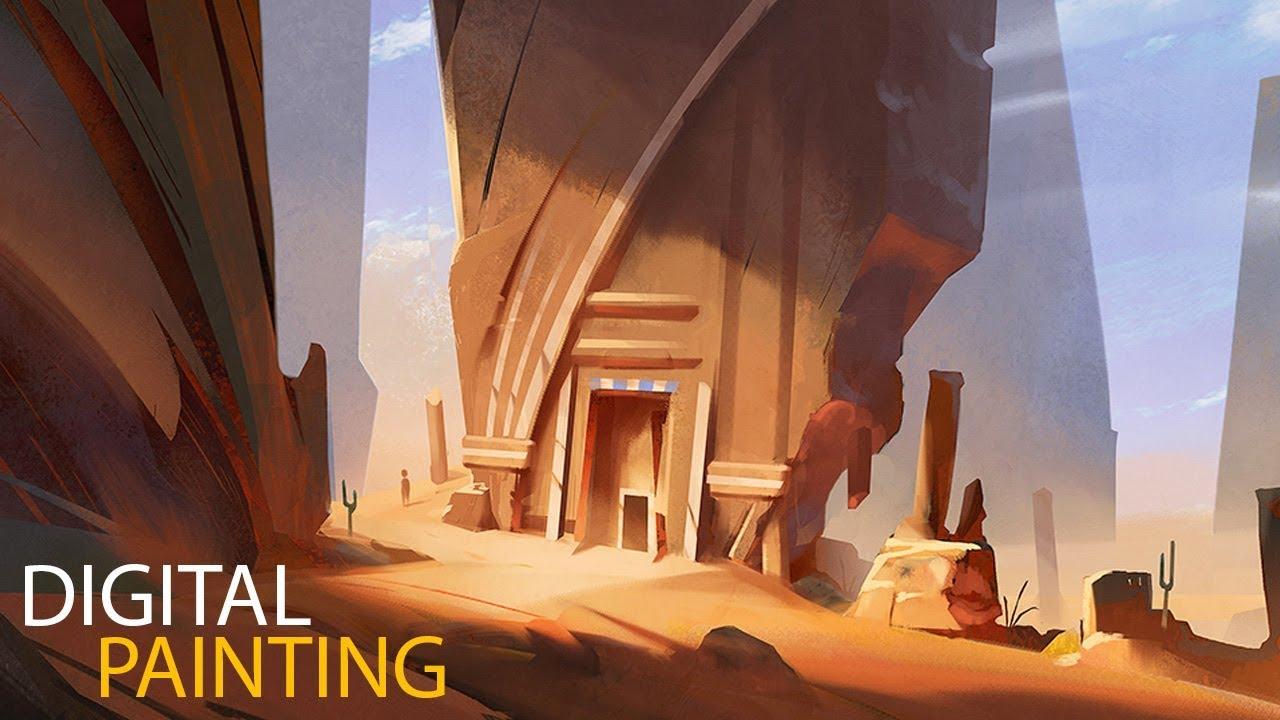 Desert Sketch: Digital Painting Process