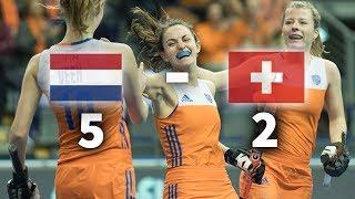 WK Dames Zaal: Goals Oranje - Zwitserland 5-2
