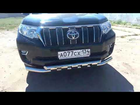 Обвес защита переднего бампера Toyota Land Cruiser Prado 150 New