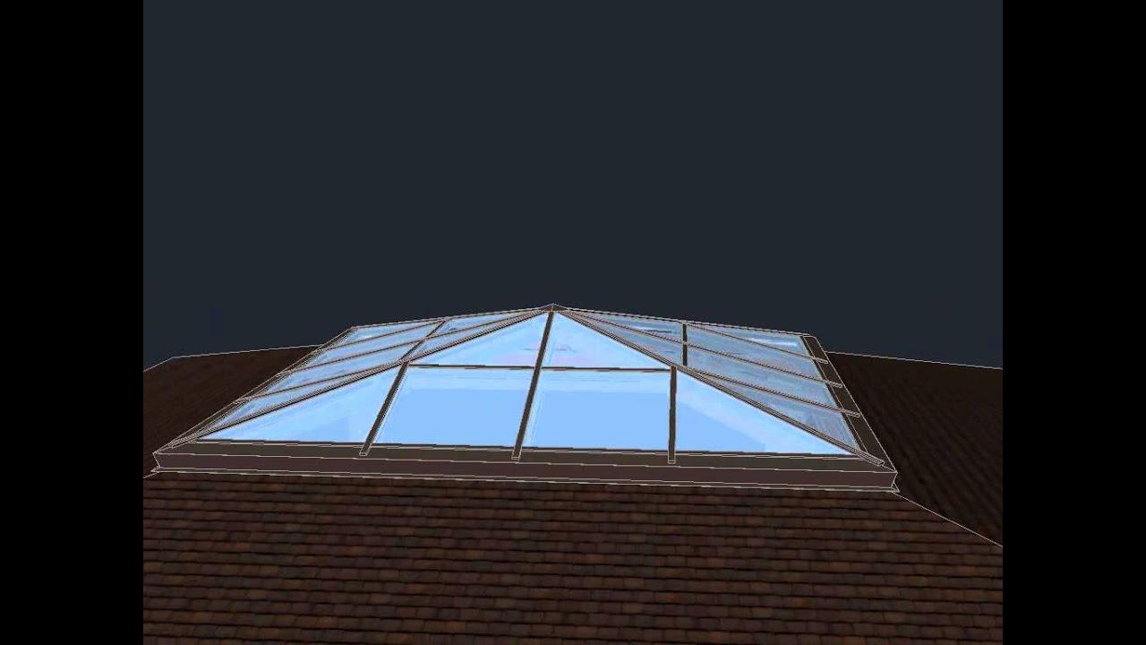 Зенитный фонарь 5000х5000мм (стеклопакеты)