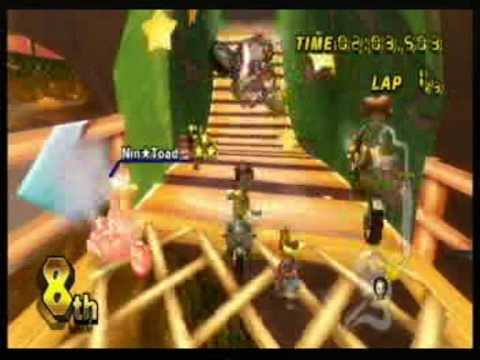 Mario Kart Wii Race Wich Nin*Toad Part 2