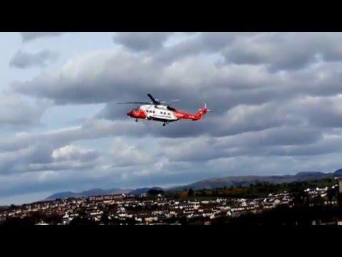 Irish Coastguard Rescue Helicopter Landing