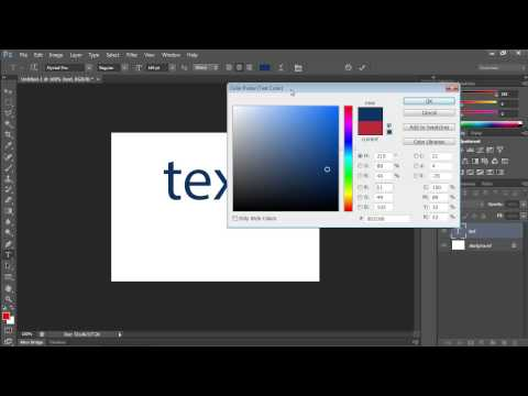 How To Change Text Color In Photoshop CS6