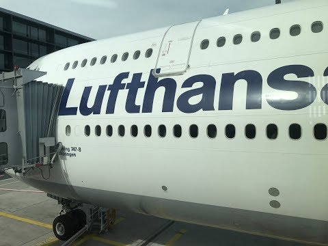 "Trip Report:  Lufthansa Boeing 747-8i. Take-off and landing, FRA to ORD, D-ABYH, ""Thüringen"""
