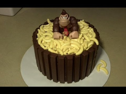 How To Make A Donkey Kong Kit Kat Cake YouTube
