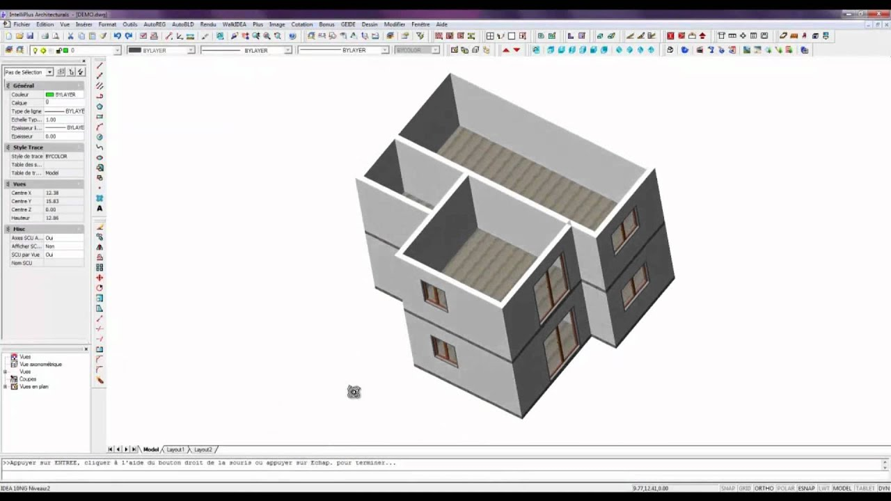 Logiciel architecture 3d bim intelliplus architectural for Logiciel plan 3d gratuit facile