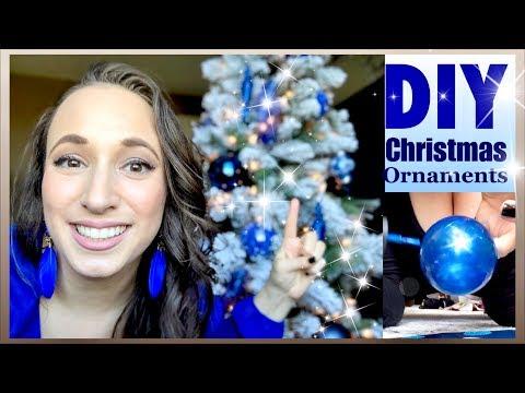 Easy DIY CHRISTMAS ORNAMENT Ideas | Royal Cobalt Indigo BLUE