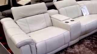 Natuzzi Editions designer sofa Italian leather clearance Outlet warehouse