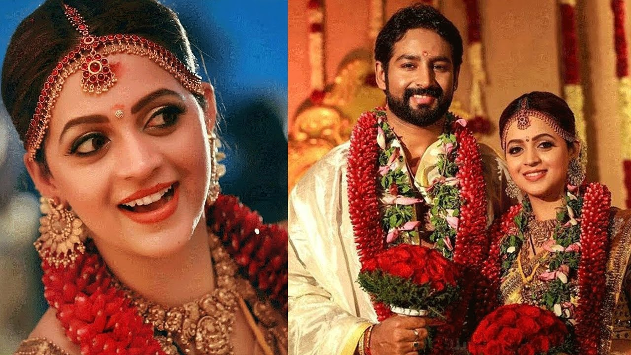 Inside Pics Of Actress Bhavana Marriage And Reception Bhavana Naveen
