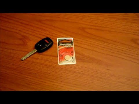 Easy DIY - replacing battery on Honda Pilot and Accord key fob remote - 2007 model - YouTube