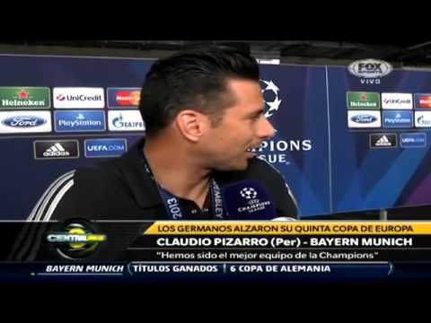 Claudio Pizarro declara tras ganar la Champions / Fuente: Fox Sports