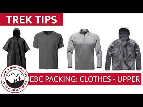 Everest Base Camp Gear List & Packing Part 5: Clothing - Upper Layers | Trek Tips