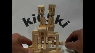 Kissing Couple Wooden Automaton