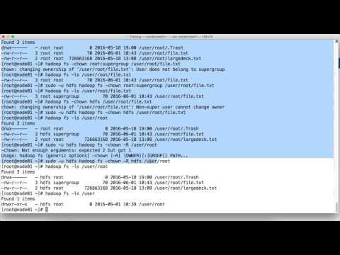 HDFS Commands - cat, checksum, chgrp, chmod, chown