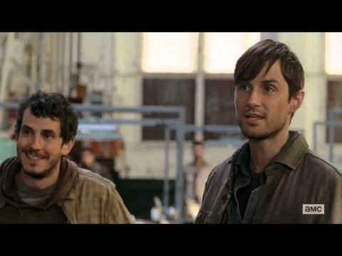 The Walking Dead - The group arrives at Terminus 720p HD