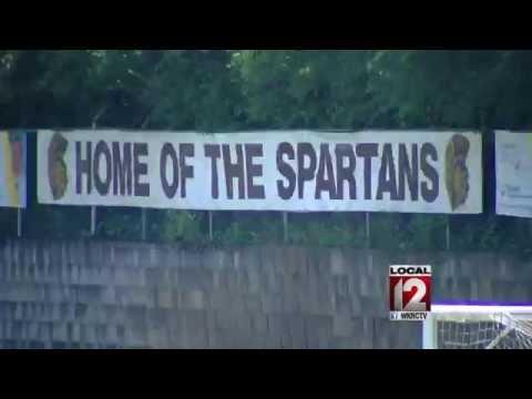 Roger Bacon High School's stadium floods