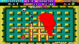 TAS (Arcade) BomberMan - HARDEST (2 Players & No Damage)