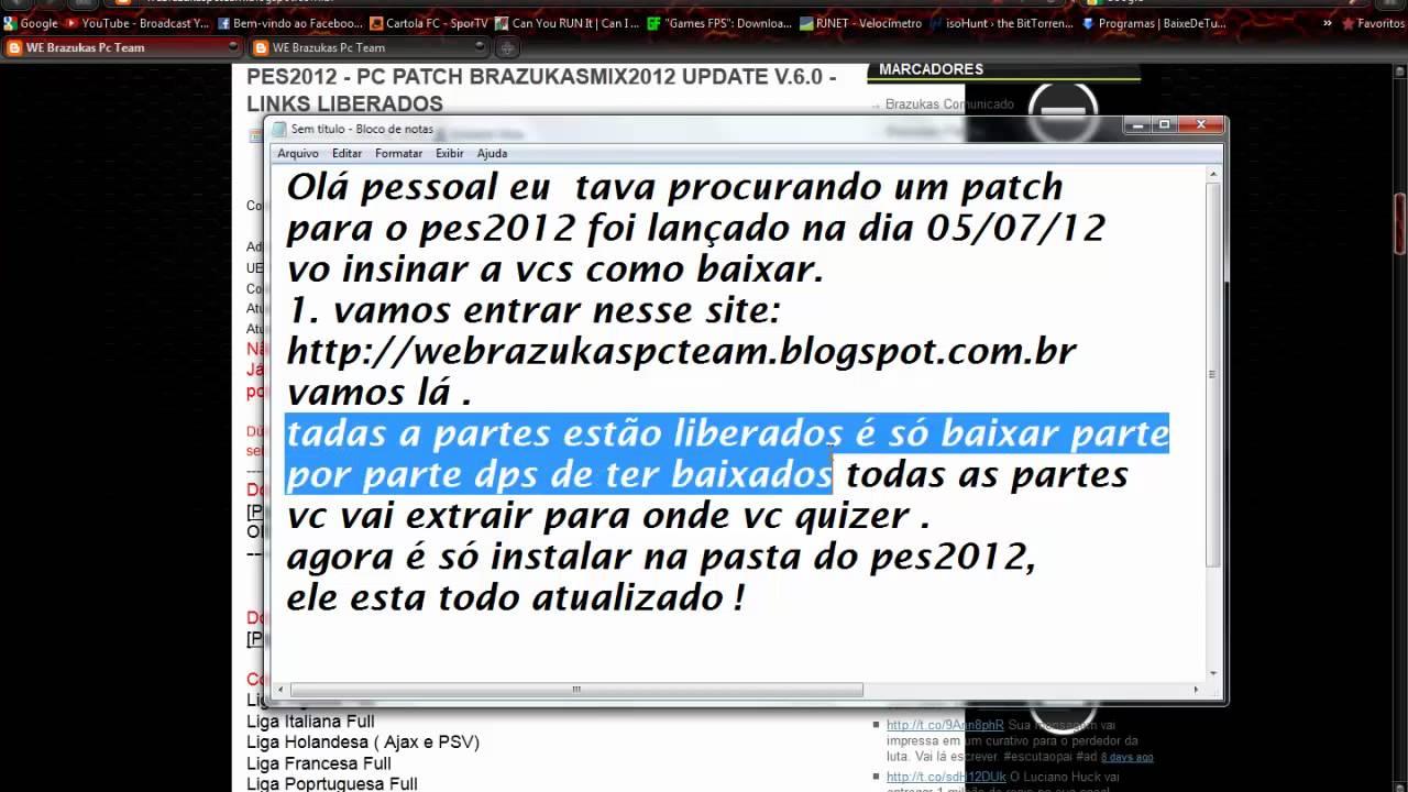 patch brazukas para pes 2012