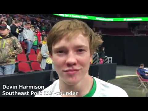 Devin Harmison's pin lifted Southeast Polk to the Class 3A state duals title
