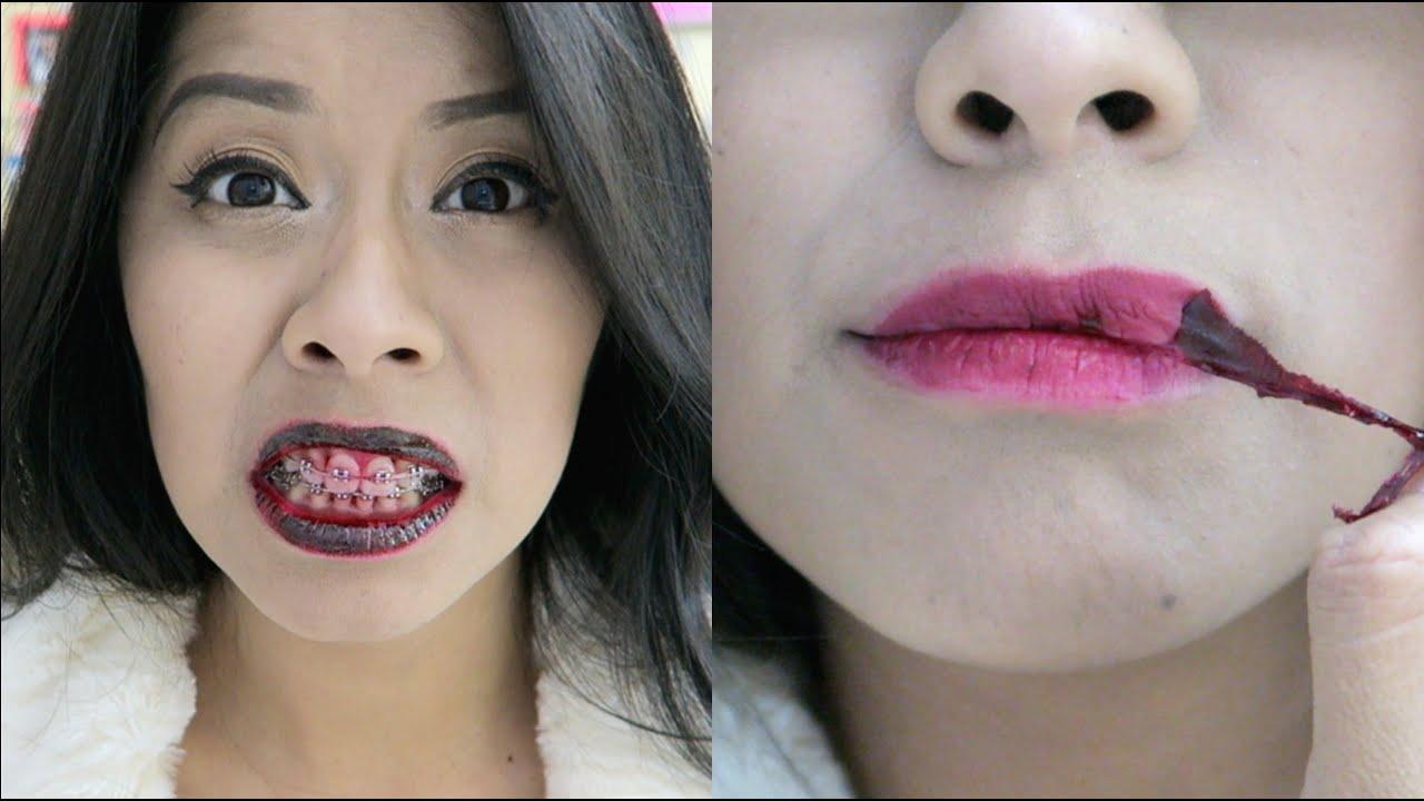 Lipstick makes lips peel